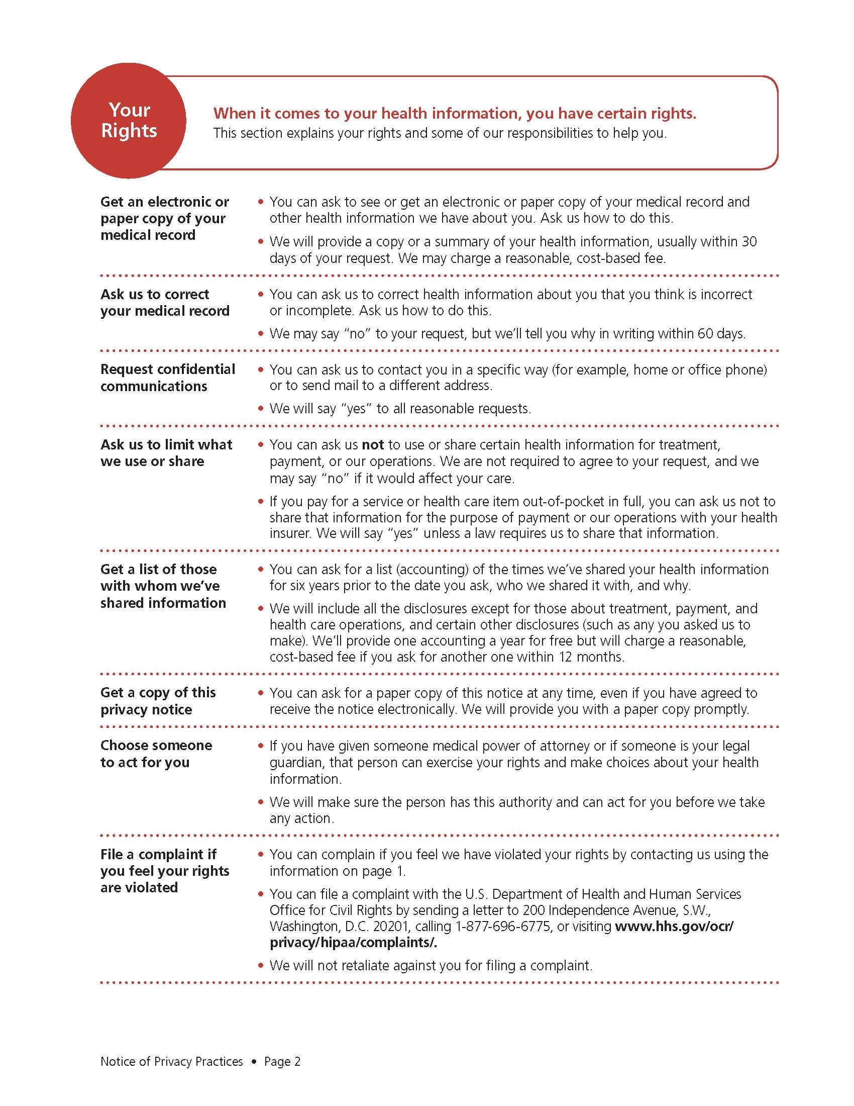 HIPAA page 2